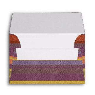 STRIPES & LINES in earthy colors leather print Envelope