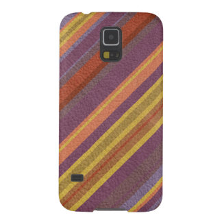 STRIPES & LINES in earthy colors leather print Galaxy S5 Case