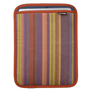 STRIPES & LINES in earthy colors leather print iPad Sleeve