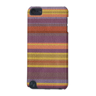 STRIPES & LINES in earthy colors leather print iPod Touch (5th Generation) Cover
