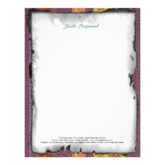STRIPES & LINES in earthy colors leather print Letterhead