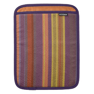 STRIPES & LINES in earthy colors leather print Sleeve For iPads