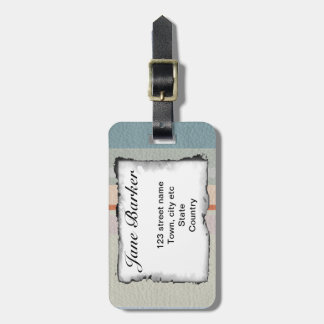 STRIPES & LINES in pastel colors leather print Bag Tag