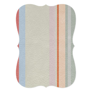 STRIPES & LINES in pastel colors leather print Card