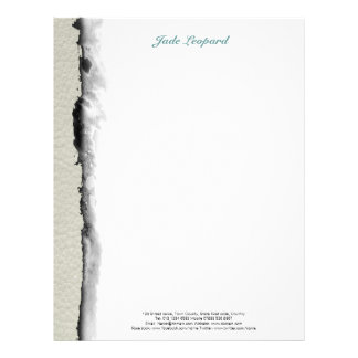 STRIPES & LINES in pastel colors leather print Letterhead