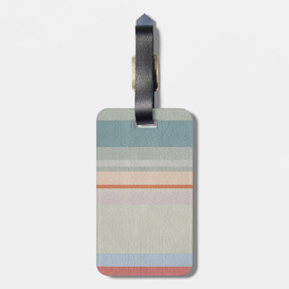 STRIPES & LINES in pastel colors leather print Luggage Tag