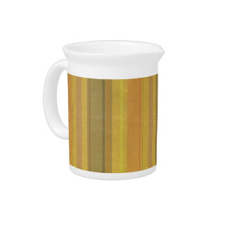 STRIPES & LINES in SunnySide colors leather print Beverage Pitchers