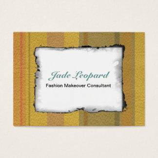 STRIPES & LINES in SunnySide colors leather print Business Card