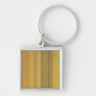STRIPES & LINES in SunnySide colors leather print Keychain