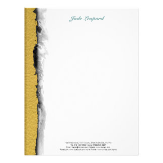 STRIPES & LINES in SunnySide colors leather print Letterhead