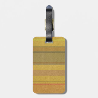 STRIPES & LINES in SunnySide colors leather print Luggage Tag