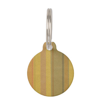 STRIPES & LINES in SunnySide colors leather print Pet Name Tag