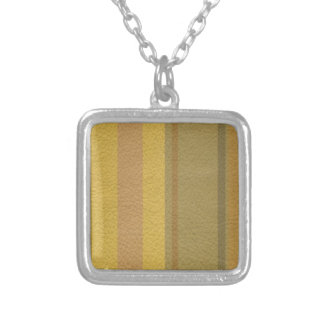 STRIPES & LINES in SunnySide colors leather print Silver Plated Necklace