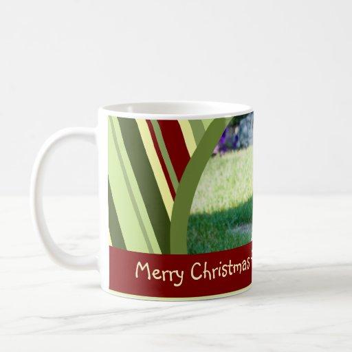 Stripes Merry Christmas Grandma Mug