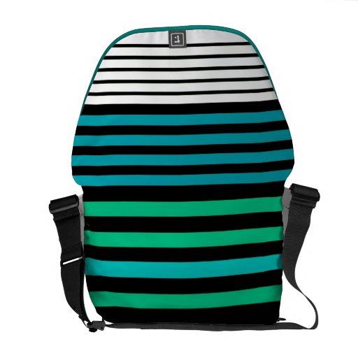 stripes messenger bag