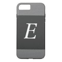 Stripes Monogram (black) iPhone 7 Plus Case