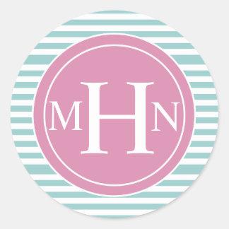 Stripes & Monogram| Monogram Shop Stickers