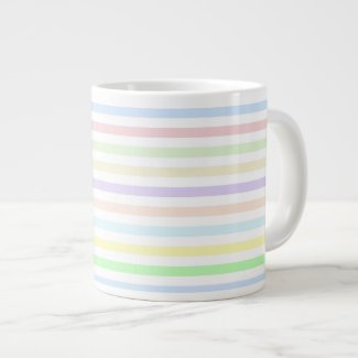 Stripes Multicolor Pastel Jumbo Mug