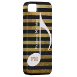 stripes music note personalized case for iPhone 5/5S