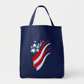 Stripes N Stars Bag Grocery Tote Bag