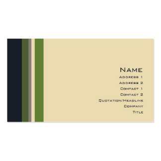 Stripes No. 0164 Business Card Template