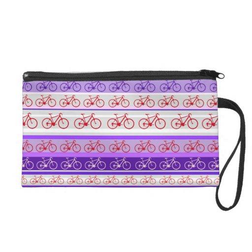 stripes of bikes wristlet purses