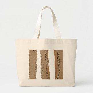 Stripes of corrugated cardboard tote bag