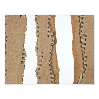 Stripes of corrugated cardboard card