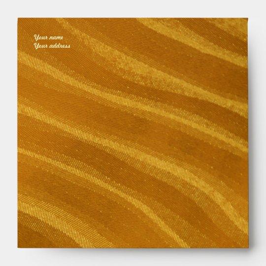 stripes of gold envelope