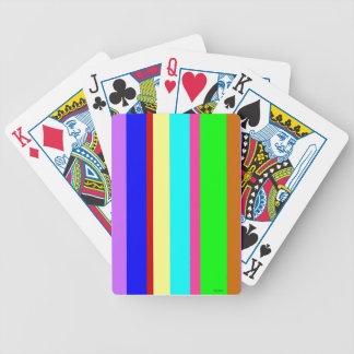 Stripes of Many Colors Bicycle Playing Cards