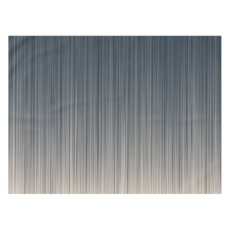 Stripes of Slate and Cream Tablecloth