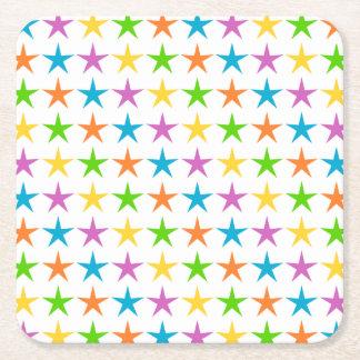 Stripes of Stars Square Paper Coaster