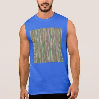 Stripes of Straw Sleeveless T-shirt