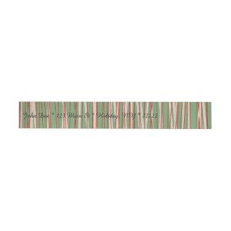 Stripes of Straw Wrap Around Address Label
