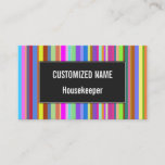 [ Thumbnail: Stripes of Various Colors Business Card ]