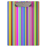 [ Thumbnail: Stripes of Various Colors Clipboard ]