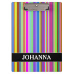 [ Thumbnail: Stripes of Various Colors + Custom Name Clipboard ]