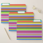 [ Thumbnail: Stripes of Various Colors File Folders ]