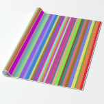 [ Thumbnail: Stripes of Various Colors Wrapping Paper ]