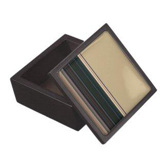 Stripes on Tan Premium Trinket Boxes