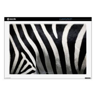Stripes on Zebra, extreme close-up Laptop Skin