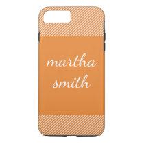 stripes / orange iPhone 8 plus/7 plus case