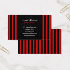 Stripes (Parallel Lines) - Black Red Business Card