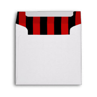 Stripes (Parallel Lines) - Black Red Envelope