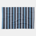 Stripes (Parallel Lines) - Blue Black Hand Towels