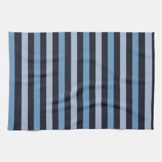 Stripes Parallel Lines - Blue Black Hand Towels