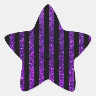Stripes Parallel Lines Glitter - Purple Black Sticker