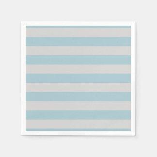 Stripes (Parallel Lines) - Gray Blue Disposable Napkin