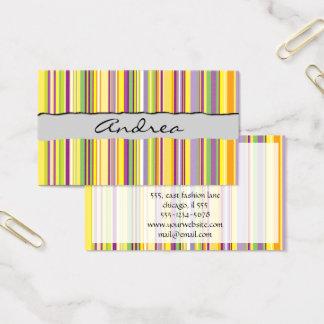Stripes (Parallel Lines) - Orange Purple Green Business Card