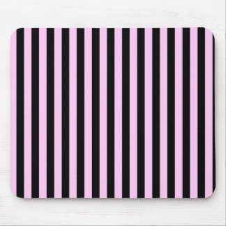 Stripes (Parallel Lines) - Pink Black Mouse Pad